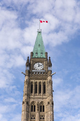 Peace Tower of the Canadian Parliament