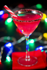 Christmas Candy Cane Infused Cocktail
