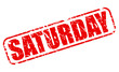 Постер, плакат: Saturday red stamp text