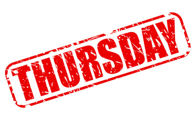 Thursday red stamp text