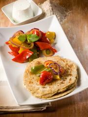 tortillas with capsicum