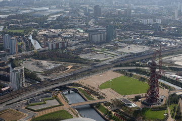 london 2012 olympics site from the air