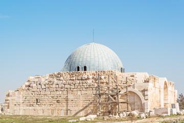 The old Umayyad Palace in Amman Citadel, Amman, Jordan