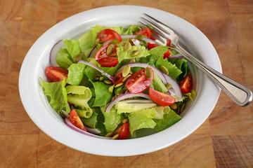 Fresh romaine and cherry tomato salad