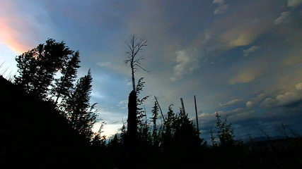 Sunset Storm Winds Montana