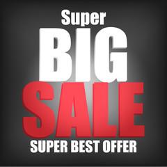 Vector of Super Big Sale Poster
