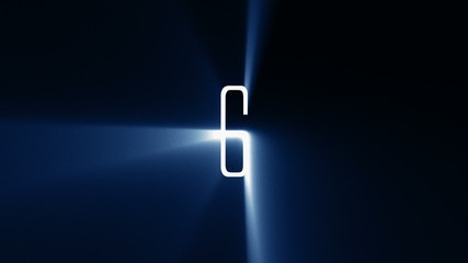 10 to 1 Countdown with Blue Light Rays