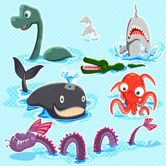Monsters Of The Deep Blue Sea Collection Set