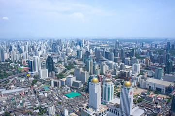 Bangkok Cityscape. Aerial view on Panorama of Bangkok, Thailand