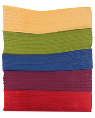 Pile of colorful napkins