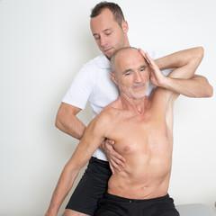neck manipulation on an elder patient