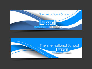The International School Banner Template For Advertising use