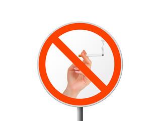 Round sign No smoking