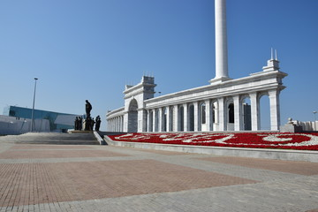 Square in front of the Palace of Indpendence in Astana