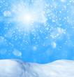 Winter festive background