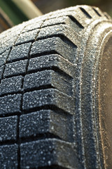 Ice and Anow on Tire