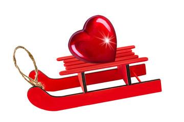 Schlitten und Herz