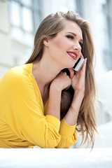 Beautiful woman talking on the phone