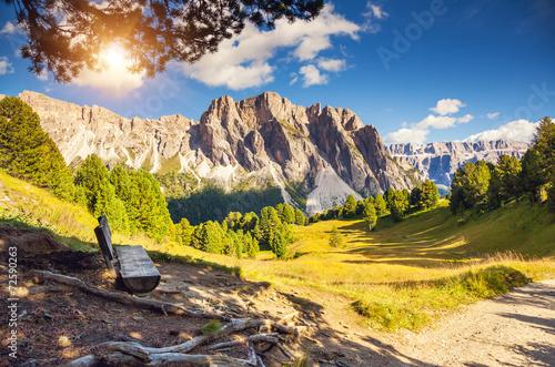 magical mountain landscape - 72590263
