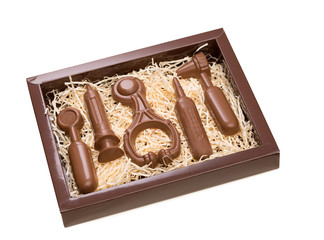 Gift for doctor - chocolate medical instruments