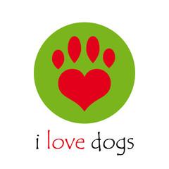 Vector logo i love dogs