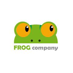 Vector logo frog company