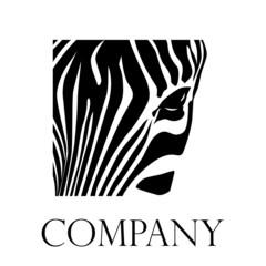 Vector logo closeup zebra
