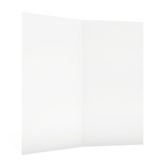 blank sheet of paper isolated on white background.