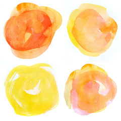 Watercolour blots of paint