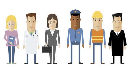 Personas de diferentes sectores de la sociedad