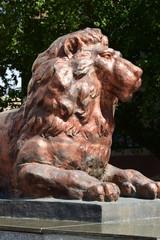Bronze sculpture of a lion