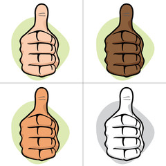 Person hand making thumbs up, ok ethnic