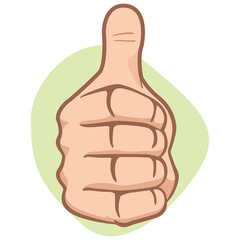 Person hand making thumbs up, ok