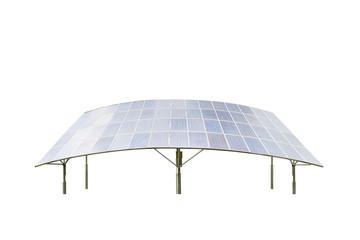 solar panels isolated on white