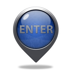 enter pointer icon on white background