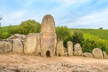Coddu Vecchiu - Giants grave near the nuraghe Prisgiona