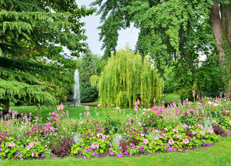 City garden in Epernay, Champagne-Ardenne
