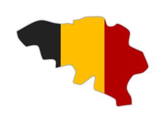 Belgium Map Scape Umriss