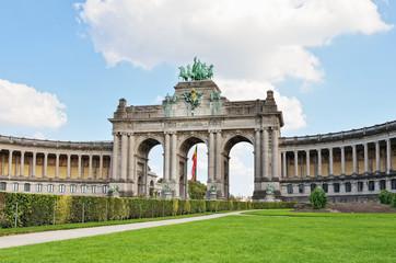 Triumphal Arch in Cinquantenaire Park in Brussels, Belgium