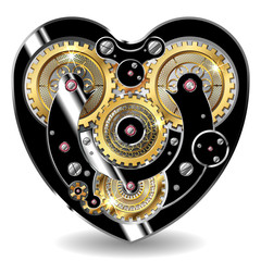 steampunk mechanical heart