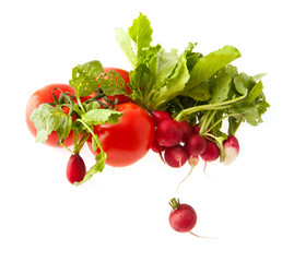 tomatoes and radish