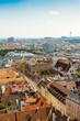 Aerial view of Vienna as seen from Stephansdom, Austria
