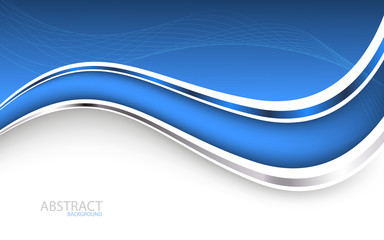 Beautiful blue background. Vector Illustration