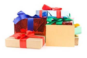 gifts with a business card