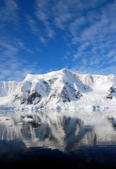 dramatic skies over antarctica