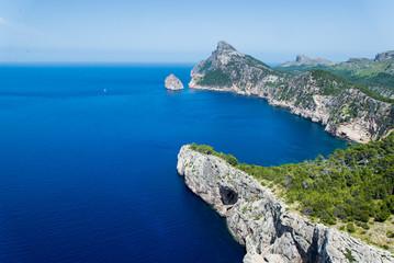 Formentor cape in summer landscape