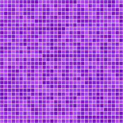 Purple square pixel mosaic background