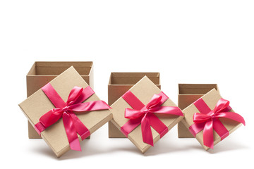 Three Open Gift Boxes