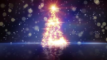 christmas tree shape of glares loopable
