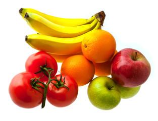 green-stuffs and fruit